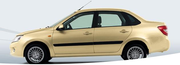 Лада Гранта цвета Желтый-такси