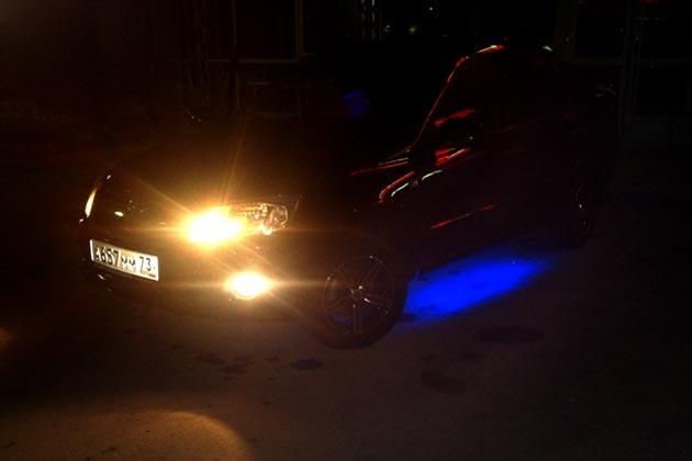 Подсветка днища Лада Гранта
